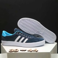 Adidas NEO Couple Casual Running Sport Shoes Sneakers navy blue white line
