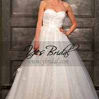 Ball Gown Sweetheart Chapel Train Organza Wedding Dress WBG02828