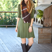 Pure Bliss Dress - Olive