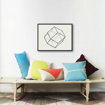 Geometric Lines I - Original Watercolor