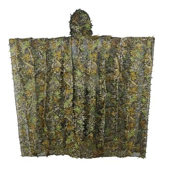 YOUGLE Camo Maple Ghillie Camouflage Suit Net Jungle Birding outdoor Huntting Poncho Durable Sniper 3D Maple Dimensional Cloak