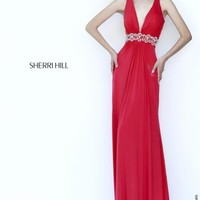 V- Neckline Jersey Sherri Hill Dress 8550