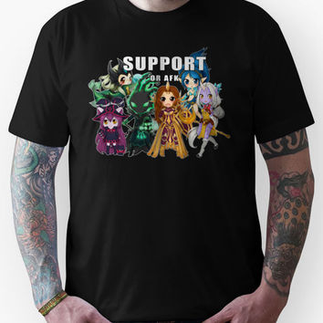 Support or AFK - League of Legends chibi t-shirt Unisex T-Shirt
