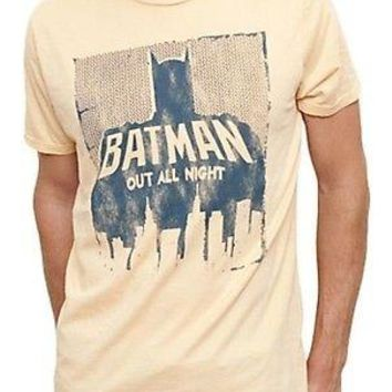 Junk Food Batman Out All Night DC Comics  Mens T-Shirt Officially Licensed