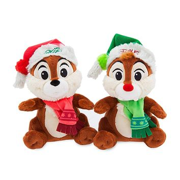 Disney Parks Nordic Winter Holiday Chip 'n Dale Small Plush New with Tags