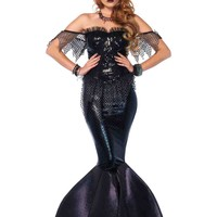 2pc. Dark Water Siren Sequin Bustier Costume