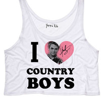 I Heart Country Boys Crop Tank Top