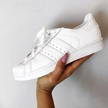 CHEN1ER Adidas' Casual Running Sport Shoes Sneakers All white