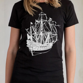 American Apparel Pirate Ship T-Shirt