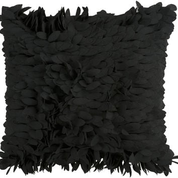 Surya Claire Throw Pillow Black