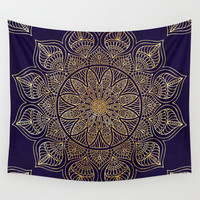 Gold Mandala Wall Tapestry by Mantra Mandala