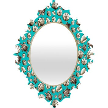 Madart Inc. Sea of Whimsy Sea Shell Pattern Baroque Mirror