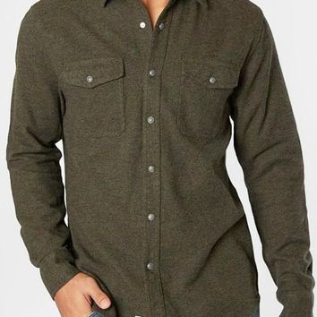 Cheswick Olive Flannel Shirt