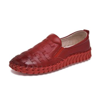 moccasins Women Casual Loafers Flats Shoes Women Genuine