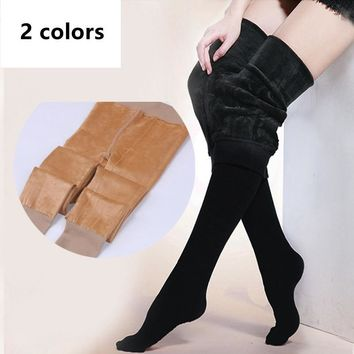 Winter Velvet Thick Women Warm Pantyhose With Feet Plus Anti-pulling High Quality Tights