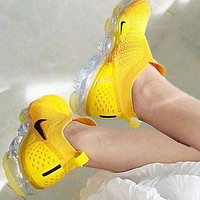 Nike Air VaporMax Moc 2 Trending Women Men Stylish Air Cushion Running Sport Shoes Sneakers Yellow