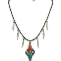 Native Feather Point Necklace