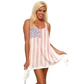 USA Flag Women's Flare Dress
