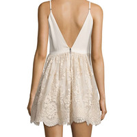 Alice + Olivia Julianne Ballerina Party Dress, Gold