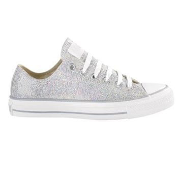 Converse All Star Lo Glitter Athletic Shoe, Silver  Journeys Shoes
