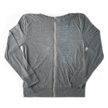 Waves - Zip Up Hooded Sweatshirt