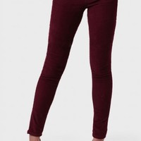 Harvest Festival Corduroy Pants In Burgundy