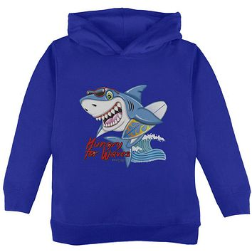 Shark Hungry for Waves Toddler Hoodie