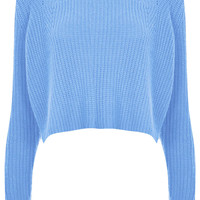 Knitted Rib Detail Crop Jumper - Knitwear - Clothing - Topshop