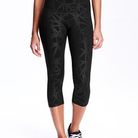 Old Navy Womens High Rise Compression Crops