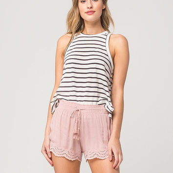 FULL TILT Eyelet Trim Womens Shorts | Shorts