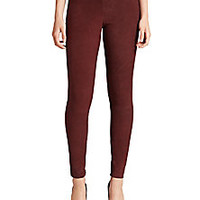 Vince - Stretch Suede Ankle-Zip Leggings - Saks Fifth Avenue Mobile