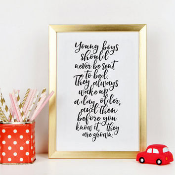 PETER PAN QUOTE, Nursery Decor,Nursery Wall Art,Kids Room Decor,Kids Gift,Quote Prints,Bedroom Decor,Children Wall Art,Typography Poster