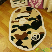 2017 Channel Bathroom Decor Carpet Floor Mats Ape Bape Rug Monkey Rugs And Carpets Cartoon Modern Area Rug For Living Room Home