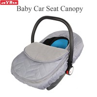 Baby Car Seat Canopy - Zipper Opening Baby Car Seat Cover Keeps Your Baby Toasty in Cold Winter Gray