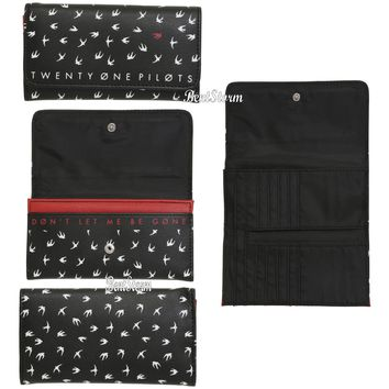 Licensed cool Twenty One Pilots 21 Don't Let Me Be Gone Birds Trifold Flap Wallet Billfold NEW