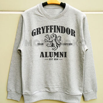 S M L -- Gryffindor Shirt Hogwarts Alumni Shirt Harry Potter Sweatshirt Jumpers Long Sleeve Sweater Unisex Shirts Women Shirts Men Shirts