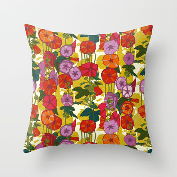 holly hocky Throw Pillow by Sharon Turner