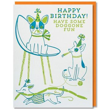 Paper Parasol Press - Doggone Fun Birthday Card