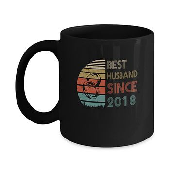 1st Wedding Anniversary Gifts Best Husband Since 2018 Mug