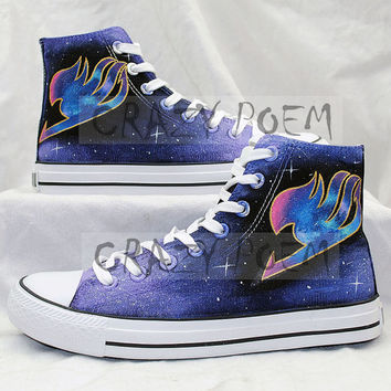 Fairy Tail Anime Shoes with Galaxy from CrazyPoem on Etsy