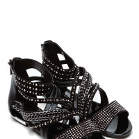 Islander Gemstone Black Sandals