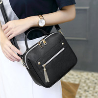 High Quality Leather Tassel Women Shoulder Bags Female Handbag Designer Brand Lady Purses Fashion Girls Small Crossbody Bag
