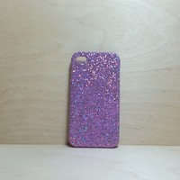 For Apple iPhone 4 / 4s Light Purple Glitter Case