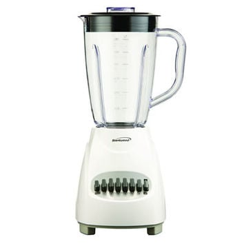 Brentwood JB-220W 12-Speed Blender Plastic Jar, White