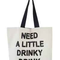 Designer Beach Bag - Need a Little Drinky Drink