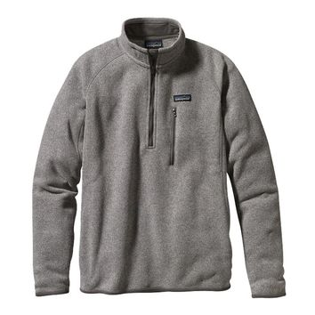 Patagonia Men's Better Sweater® 1/4-Zip Fleece Pullover | Stonewash