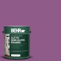 BEHR, 1-gal. #OSHA 4 Safety Purple Semi-Gloss Enamel Alkyd Interior/Exterior Paint, 393001 at The Home Depot - Mobile