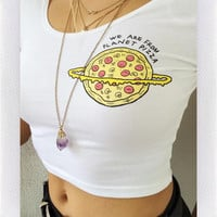 PIZZA PLANET CROP- IVORY