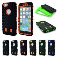 Tire Dual Layer TPU + Hard Plastic 3 in 1 Armor Protection Case for iPhone 6