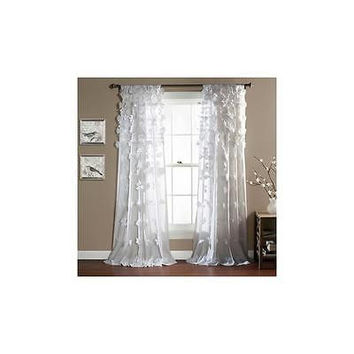 "Lush Decor Riley White Curtain Panel 54"" X 84"" Original Price 109.99"